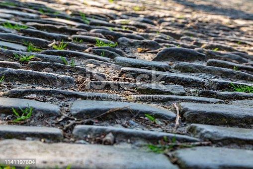 istock Flanders Cobblestone Road - Detail 1141197604