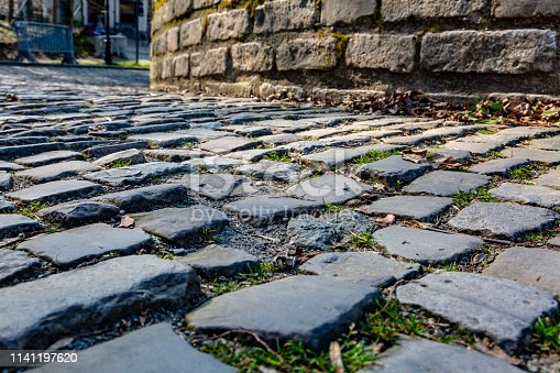istock Flanders Cobblestone Road - Detail 1141197620