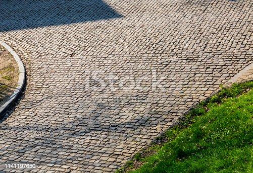 istock Flanders Cobblestone Road - Detail 1141197650