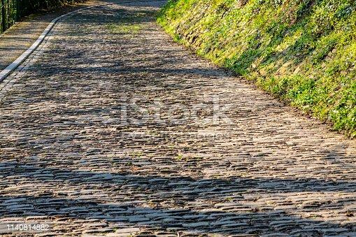 istock Flanders Cobblestone Road 1140814882