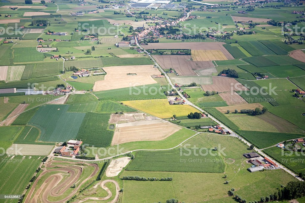 Flanders Fields from the air stock photo