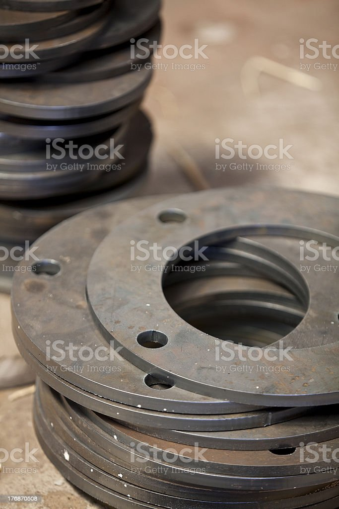 flanges royalty-free stock photo