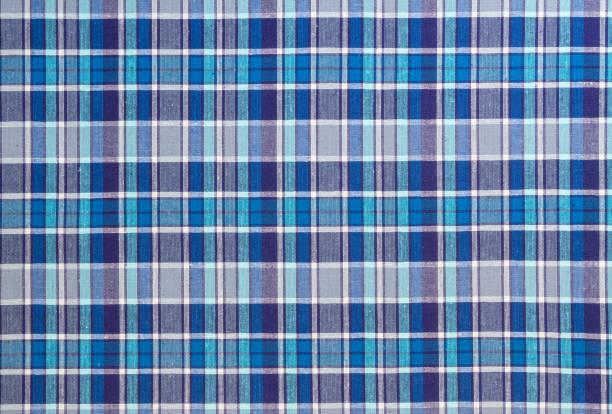 フランネル、綿繊維の背景として古典的なスコットランドのセルに - チェック ストックフォトと画像