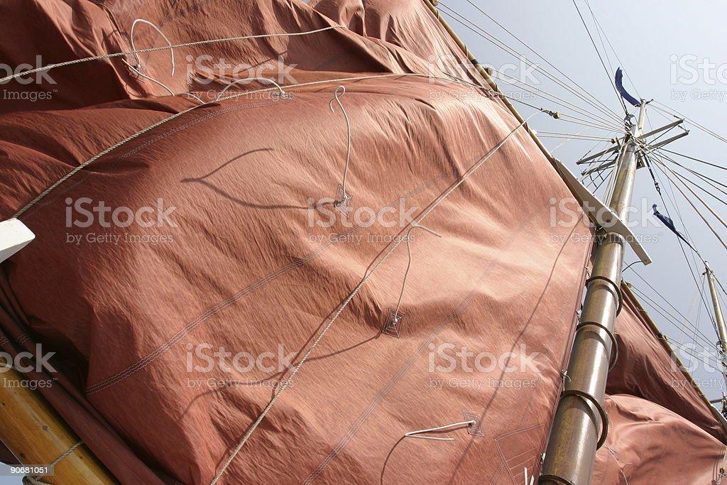 Flaping Sail stock photo