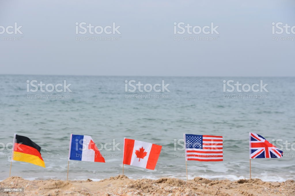 Flapping flag stock photo