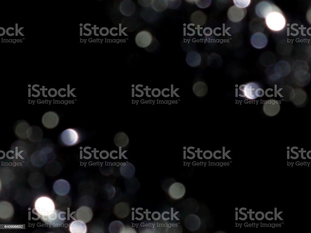 FLARE et coeurs sur fond noir - Photo