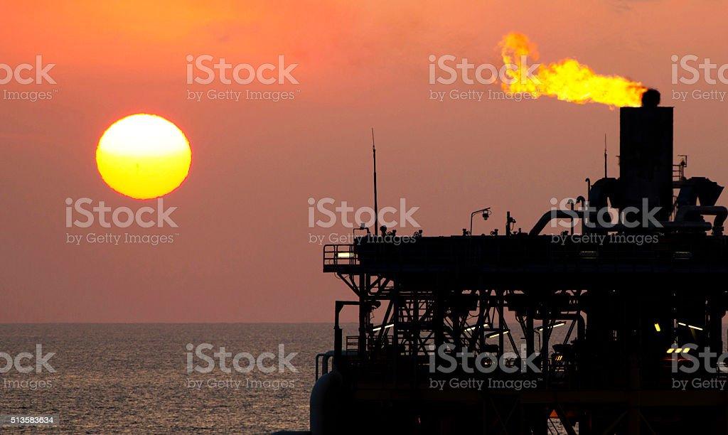 Flare burn stock photo