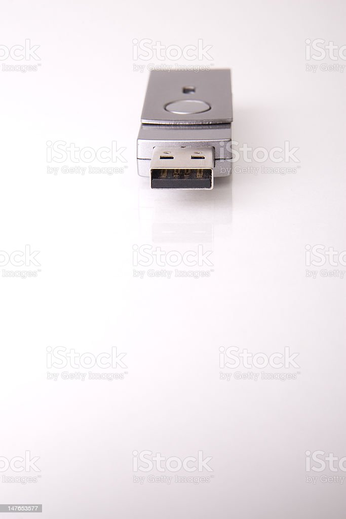 USB Flash Drive isolated in white royalty-free stock photo