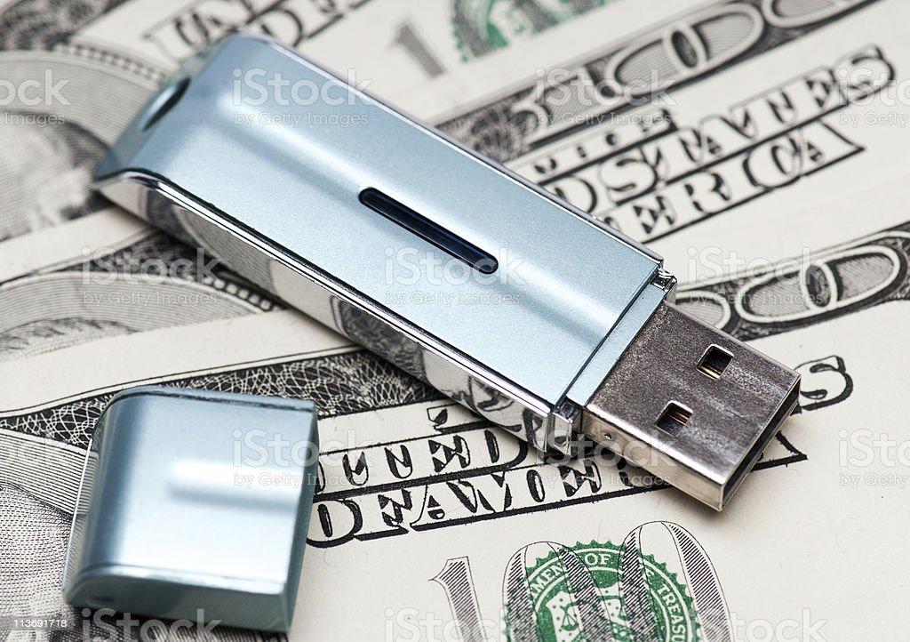 Flash drive royalty-free stock photo