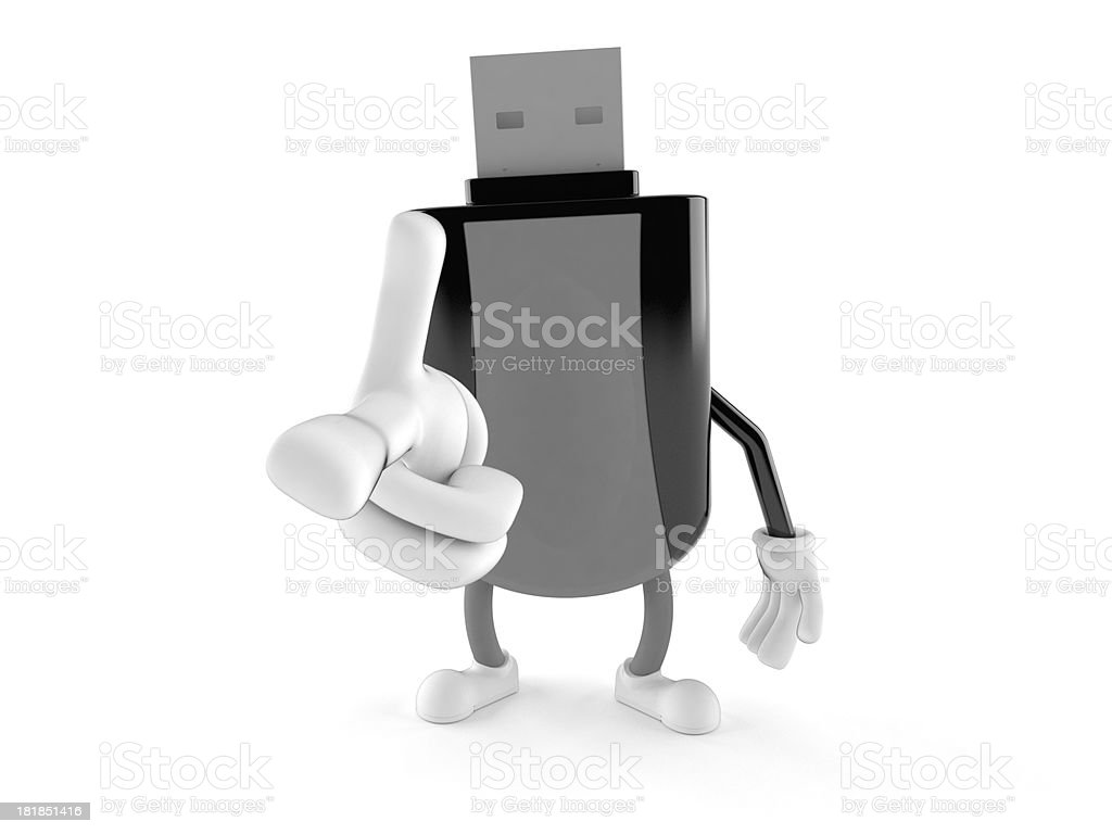 Flash drive royalty-free stock photo