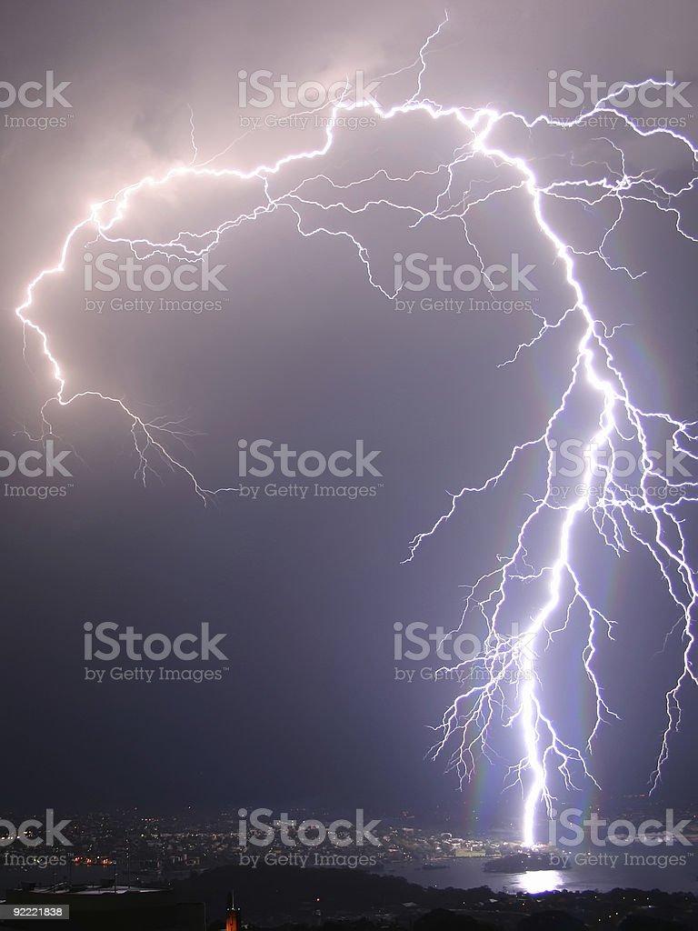 Flash in the night stock photo