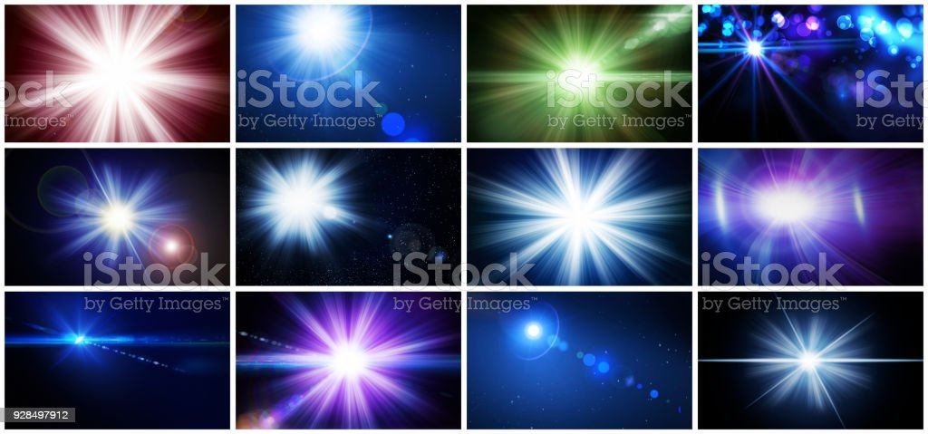 Light and Lens Flare - various colors