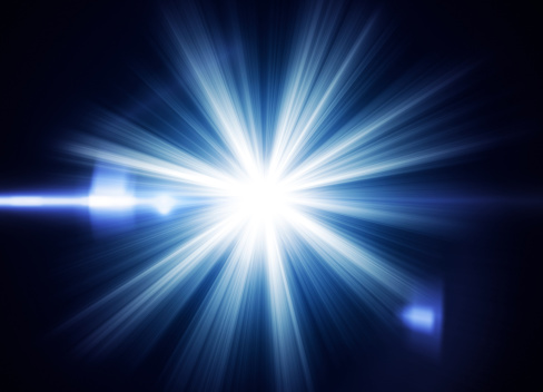 Flash light with lens flare effectLights - real and abstract: