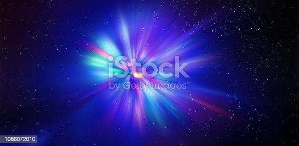 istock Flash light radial colored rays. 1086072010