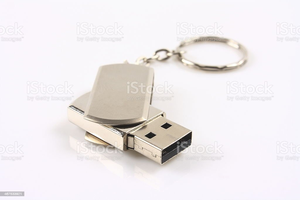 Flash memory disk for computer stock photo