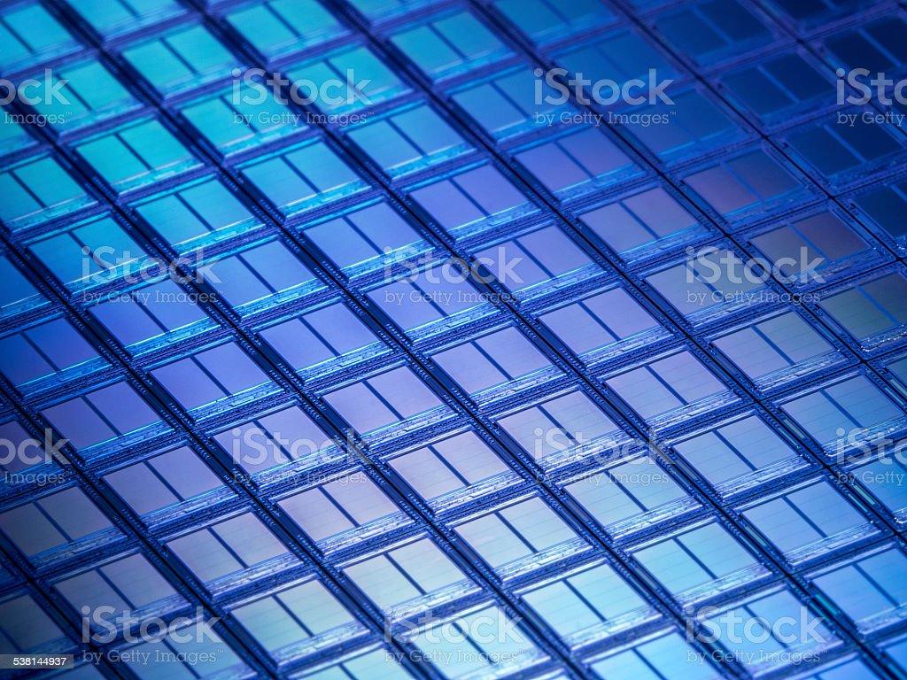 Flash Memory Wafer Macro Detail stock photo