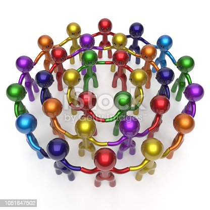 688200936istockphoto Flash mob social network worldwide crowd large circle characters group 1051647502