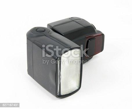 camera speedlite over white