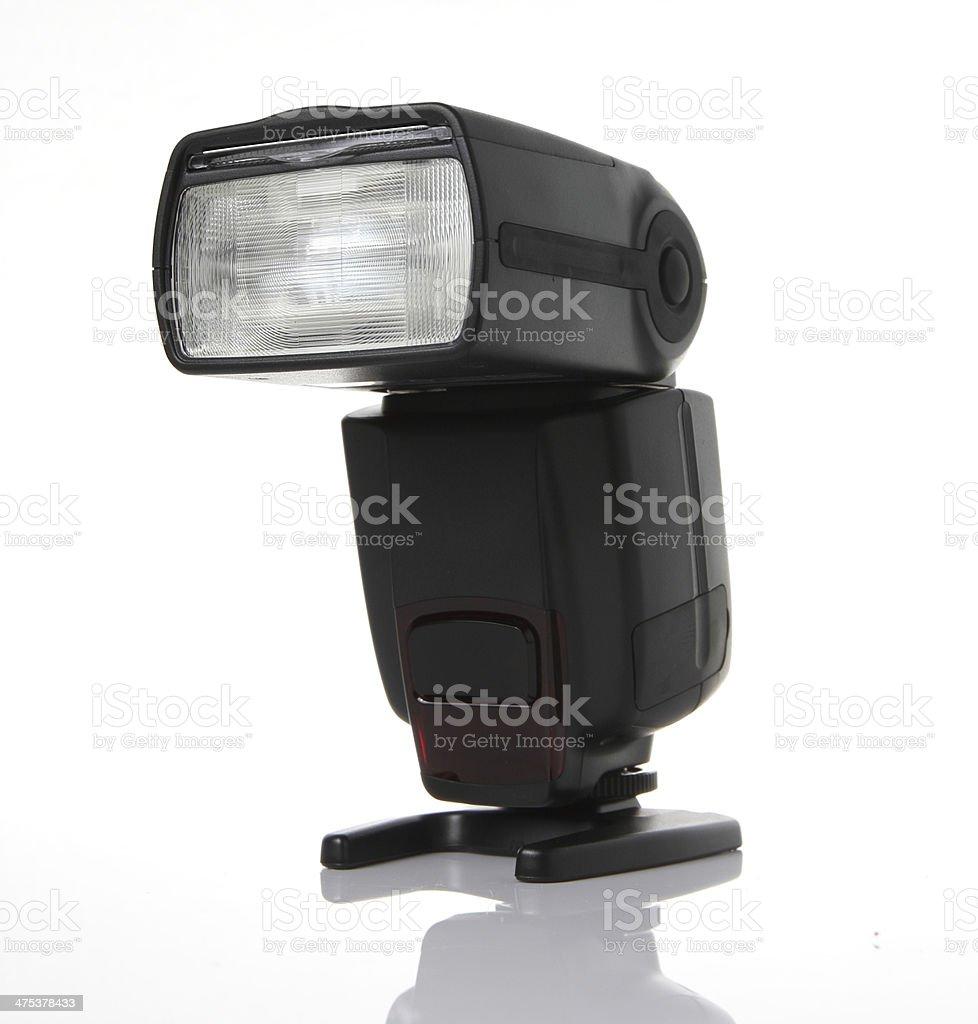 Flash SpeedLite on White backgroune stock photo