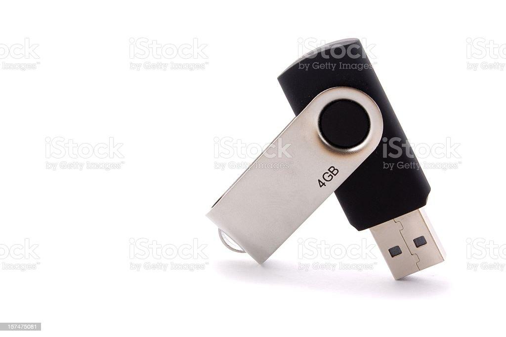 USB flash storage on white stock photo