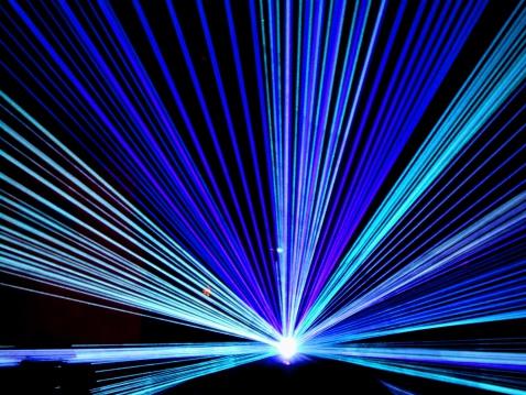 Flashing disco lights