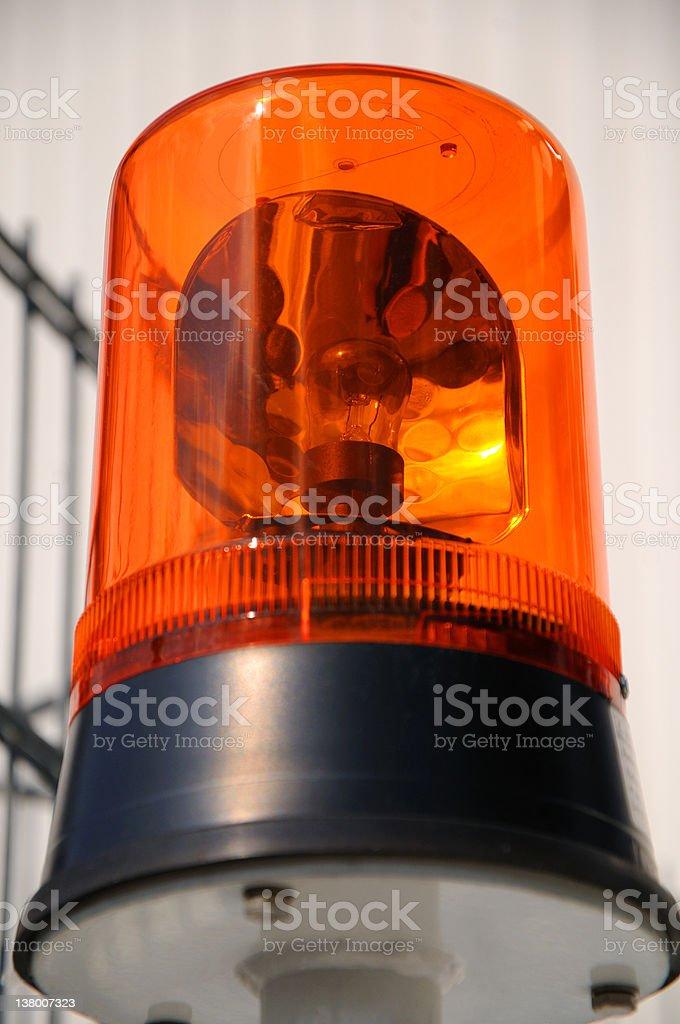 Flashing light stock photo