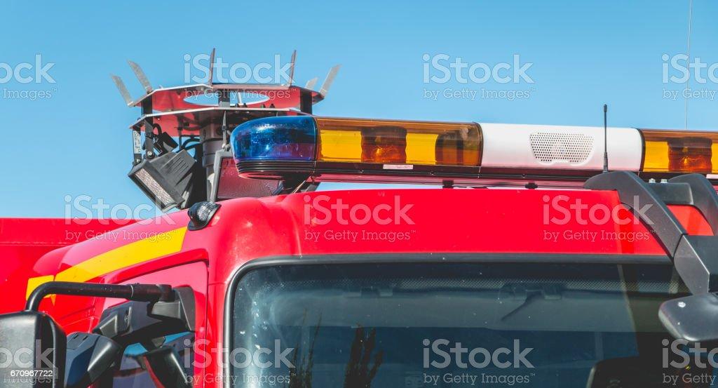 feux clignotants d'un véhicule de désincarcération - Photo