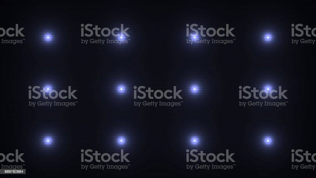 Flashing lights on a black background stock photo