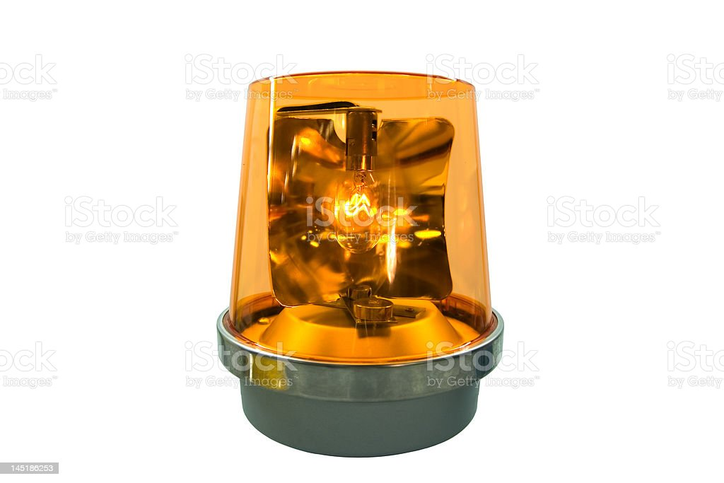 Flashing Yellow Light royalty-free stock photo