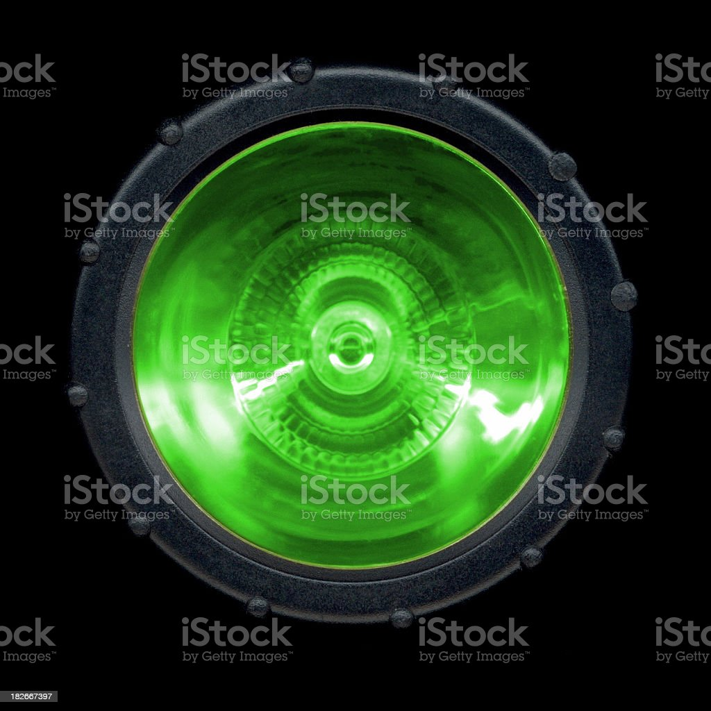 Flash-light: GREEN stock photo