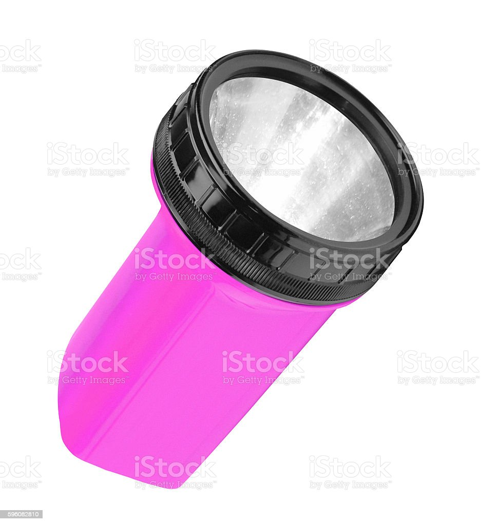 Flashlight isolated on white royalty-free stock photo