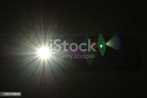 istock flashlight of mobile phone in dark night 1250256853