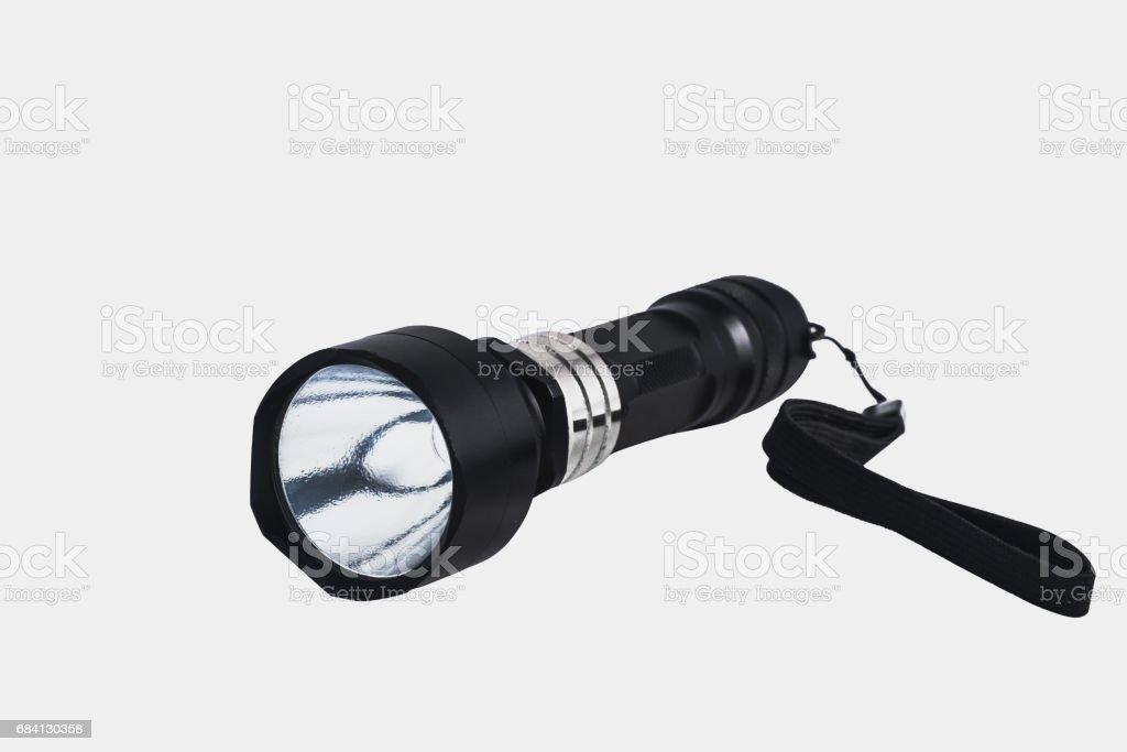 Flashlight on isolate white background zbiór zdjęć royalty-free