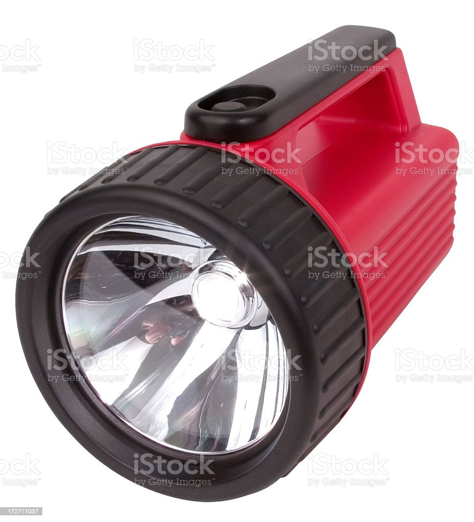 Flashlight on white with clipping path royalty-free stock photo