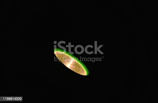 istock flashlight spreading beam in night 1159614320