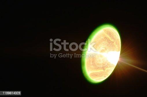 istock flashlight spreading beam in night 1159614323