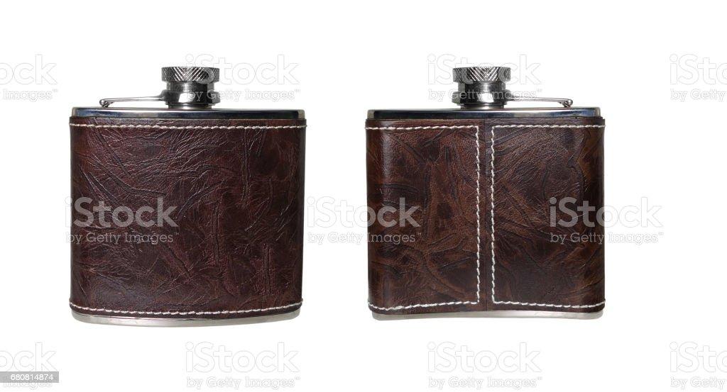 Flask of Cognac - foto stock