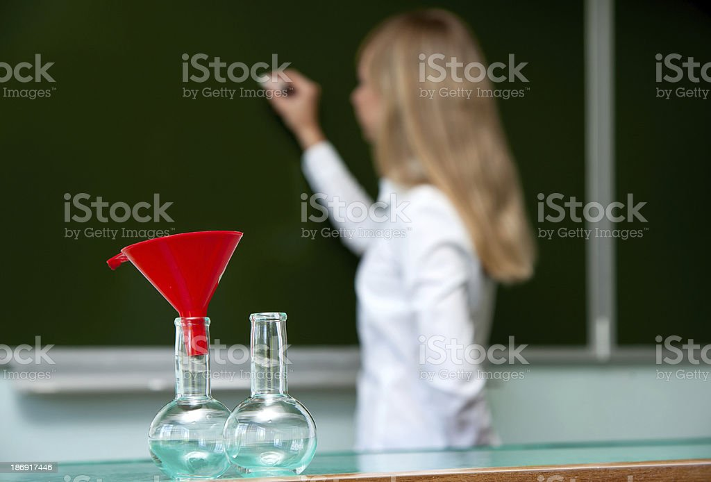 flasks for chemistry royalty-free stock photo