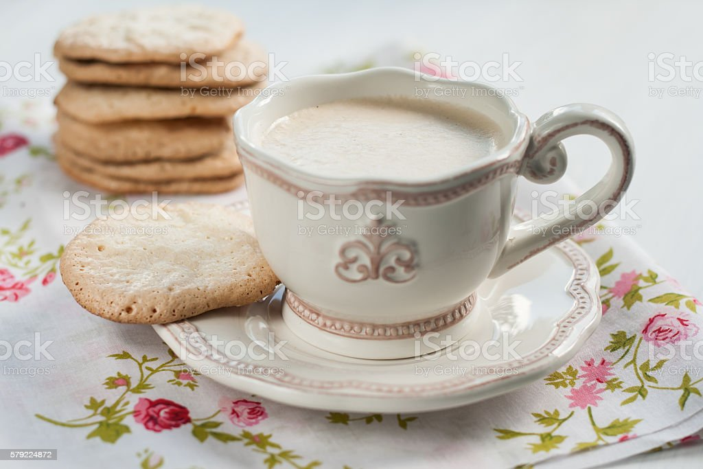 Flat Almond Biscuits Vintage Kitchenware In The Style Of Provenc