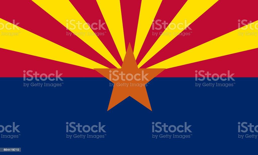flat arizona state flag - usa - foto de acervo