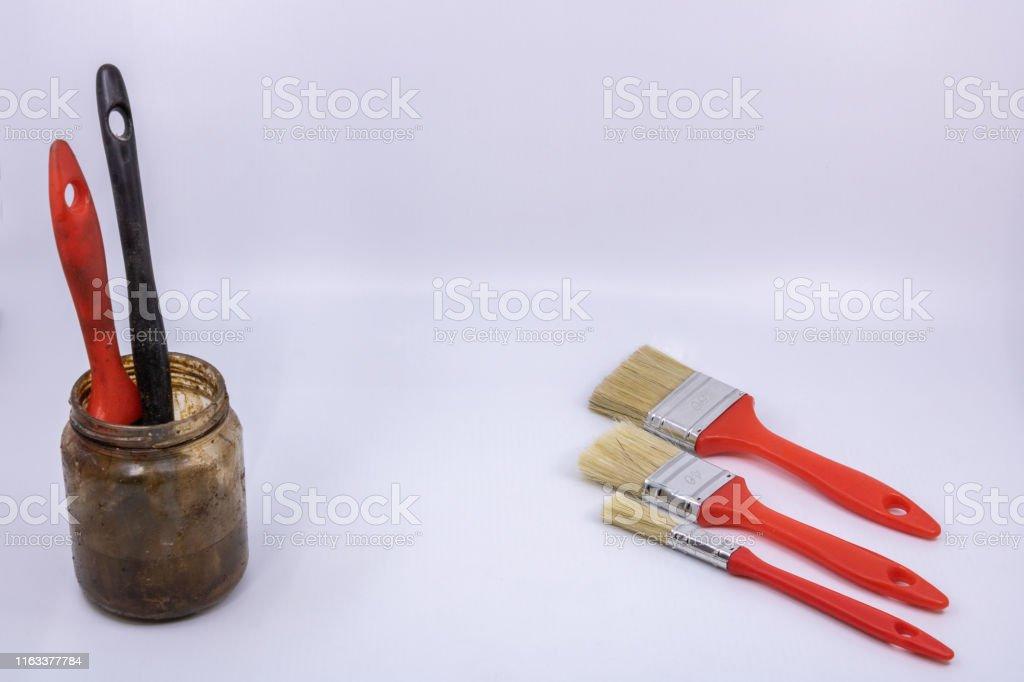 Flat Brushes For Building Painter White Spirit Pot For