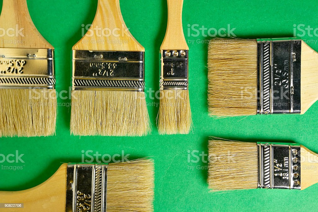 Flat brushes stock photo