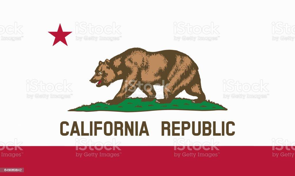 flat californian state flag - usa stock photo