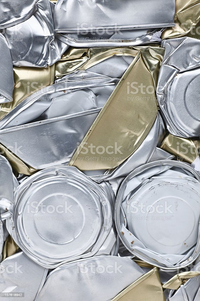 Flat Cans royalty-free stock photo