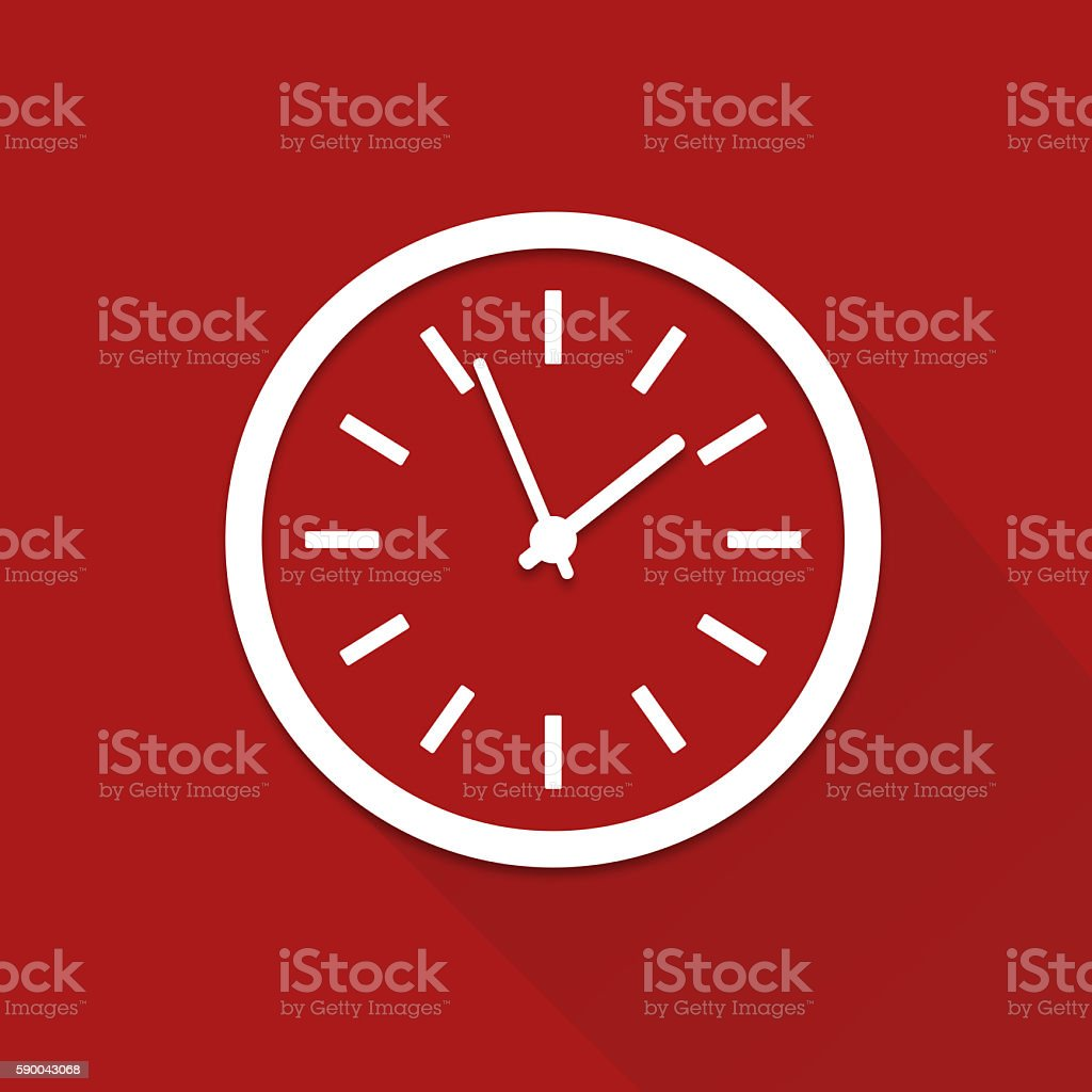 Flat clock stock photo