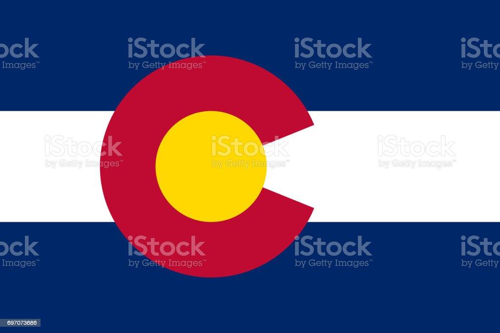 flat colorado state flag - usa stock photo