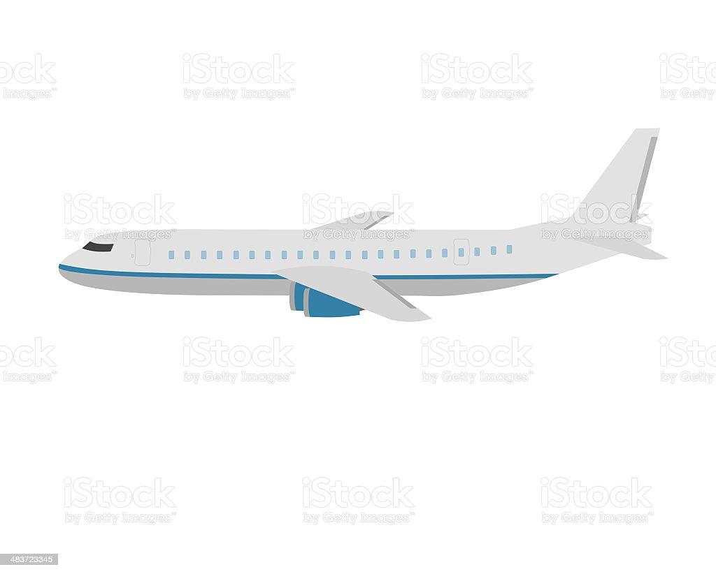 flat design airplane isolated on white stock photo