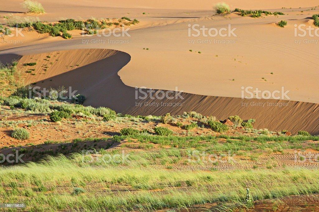 Flat dune stock photo