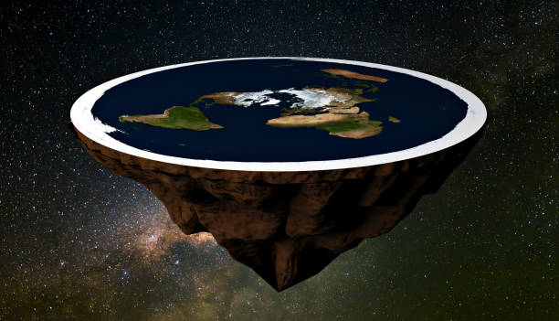 Flat Earth from space stock photo