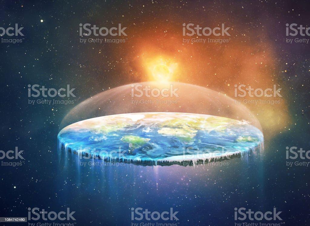 Tierra plana - Foto de stock de Agua libre de derechos